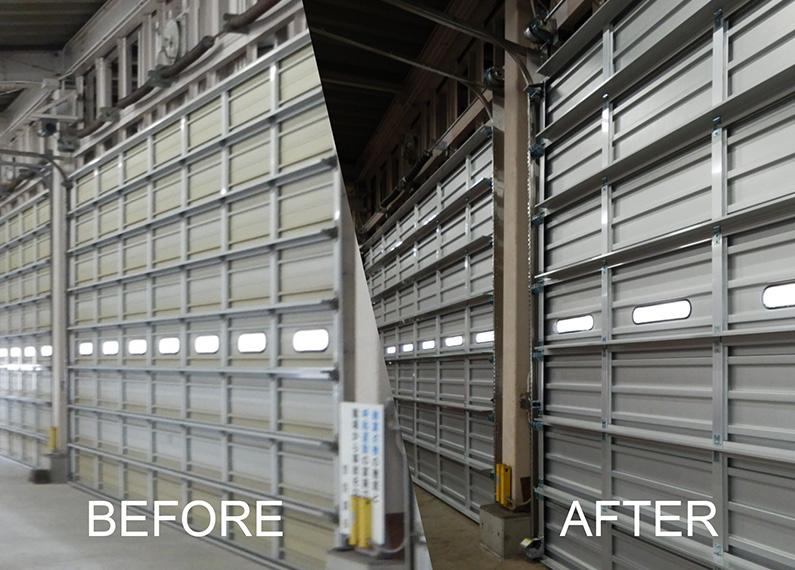 大分市消防局第二車庫外壁・屋根塗装等改修工事