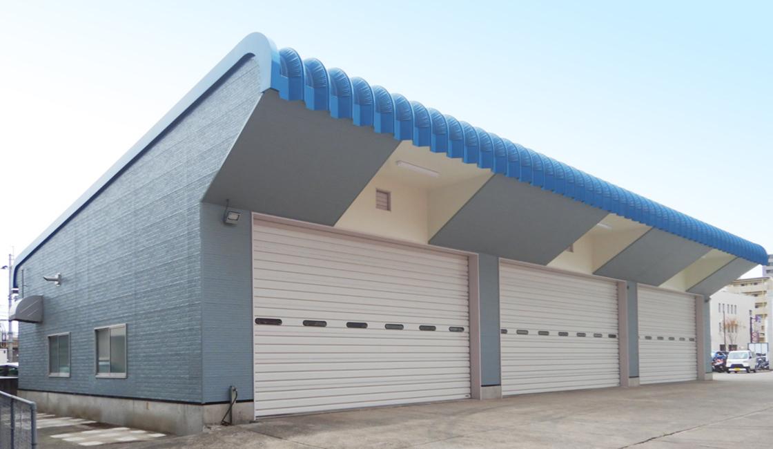 公共工事 大分市消防局第二車庫の外壁・屋根塗装等改修工事