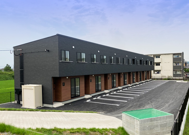 新築賃貸アパート外観