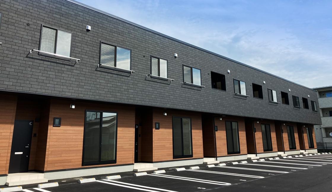 新築賃貸アパート建設施工工事 外観